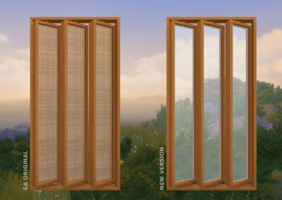 Slanted Windows (See-Through)
