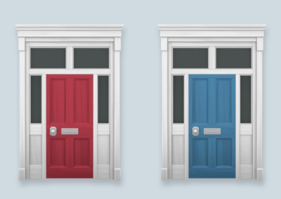 Colourful Townhouse Doors