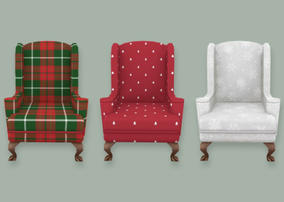 Christmas Fireside Chair