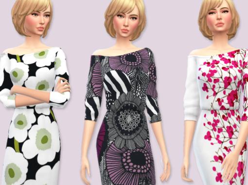 Off-the-Shoulder Marimekko Dress
