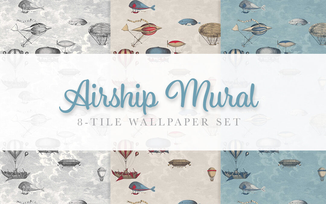 Airship Mural Wallpaper