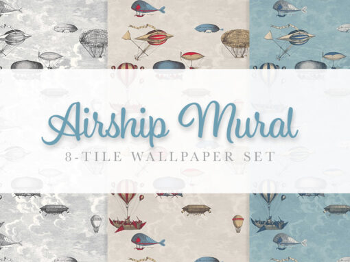 Airship Mural Wallpaper