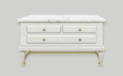 Glam Upcycled Dresser