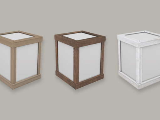 RH Taishō Cube Wall Light