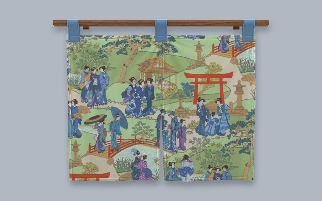 RH Taishō Noren Hanging