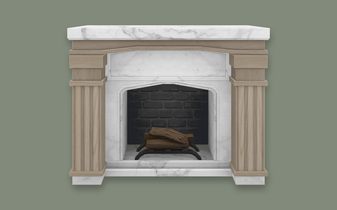 RH Neo Classical Fireplace