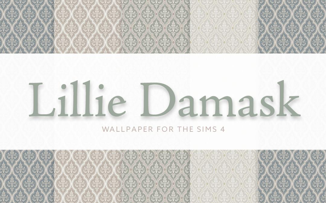 Lillie Damask Wallpaper