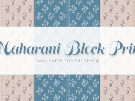 Maharini Block Print Wallpaper