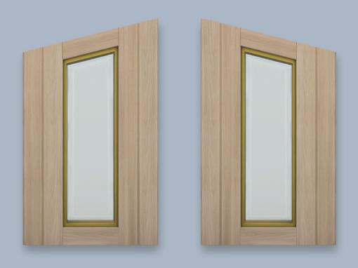 RH Diagonal Wood Windows