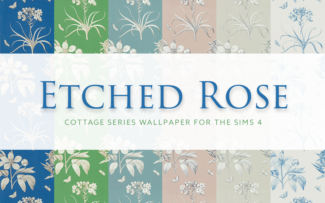 Etched Rose – Cottage Series Wallpaper