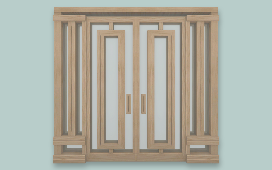 RH Glass & Wood Door
