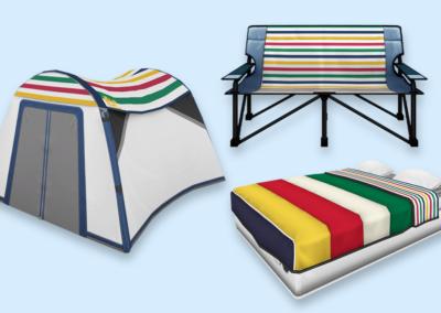 HBC Stripes Camp Set
