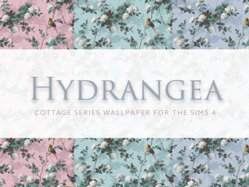 Hydrangea – Cottage Series Wallpaper