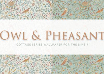 Owl & Pheasant – Cottage Series Wallpaper