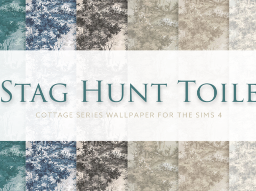 Stag Hunt Toile – Cottage Series Wallpaper