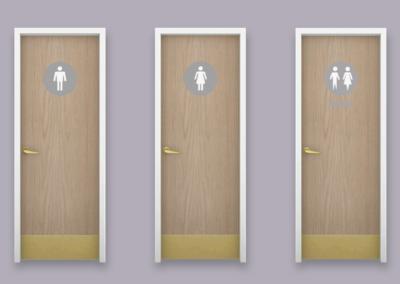 RH Restroom Doors