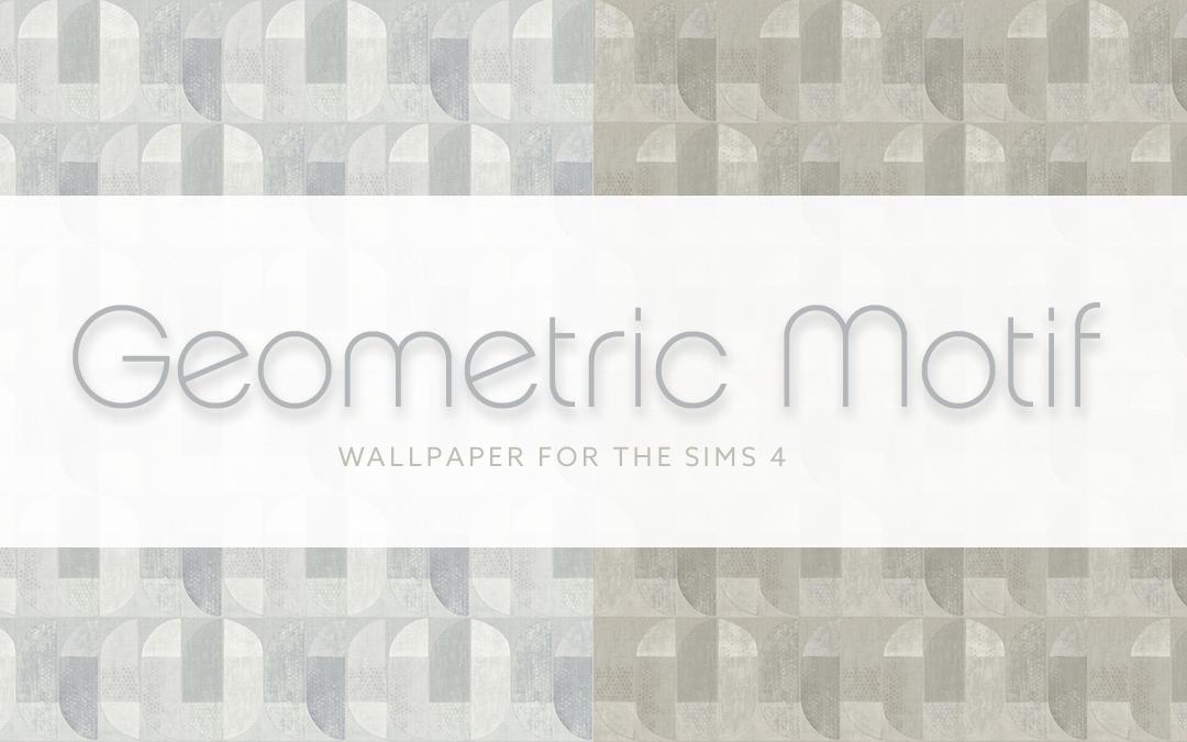 Geometric Motif Wallpaper